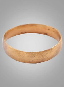 Ancient Viking Womans Wedding Band, Jewelry C.866-1067A.D. Size 5  (15.6mm)(Brr8