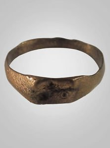 Authentic  Medieval   Ring C.13th-15th Century Size 7 3/4  (18.1mm)(BRR564)