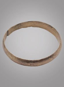 Ancient Viking Wedding Band Jewelry C.866-1067A.D. Size 11  1/2 (20.6mm)(Brr843)