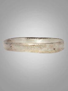 Ancient Viking Silver over Bronze Wedding Band Jewelry C.866-1067A.D. Size 10 1/