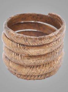 Ancient  Viking Mans Coil  Ring C.866-1067A.D. Size 10 1/2  (20mm) Antique Vinta