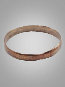 Ancient Viking Womans Wedding Band, Jewelry C.866-1067A.D. Size 6  (16.3mm)(Brr7