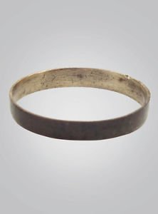 Ancient Viking Woman's  Natural Bronze Wedding Band Jewelry C.866-1067A.D. Size