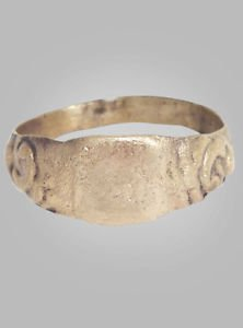 Medieval Mans Wedding Ring C.13th-15th Century Size 13 (21.8mm)(BRR135)
