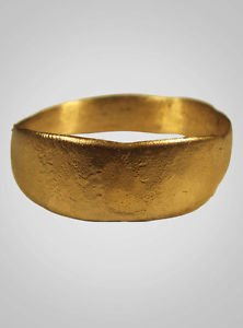 Authentic  Ancient Viking Wedding Band Jewelry C.866-1067A.D. Size 9  (18.9mm)(B
