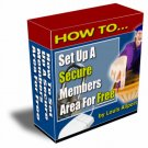 How To set up a Secure member's area for FREE.