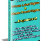 Private label rights and master resale rights Explained.