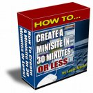 How To Create a mini-Site in 30 minutes or Less.