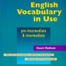 ENGLISH VOCABULARY IN USE FOR PRE-INTERMEDIATE AND INTERMEDIATE.