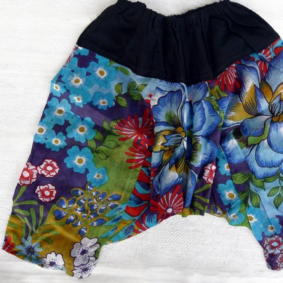 Funky colourful toddler childrens clothing. 2 years up. Adjustable size. BLUE SHADE PANTS.
