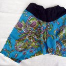Funky toddler childrens clothing. 3 to 4 years up. Adjustable size. BLUE PANTS for boys and girls.
