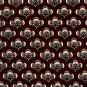 417 by Van Heusen Burgundy Brown Beige with Flower Design mens 100% Silk necktie tie