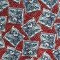 Austin Reed Burgundy Red Blue Design 100% Silk mens necktie tie