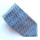 Arrow Black Blue Silver Geometric Design 100% Silk mens necktie