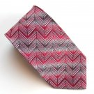 Stafford Modern Red Gray Geometric design mens 100% Silk necktie tie