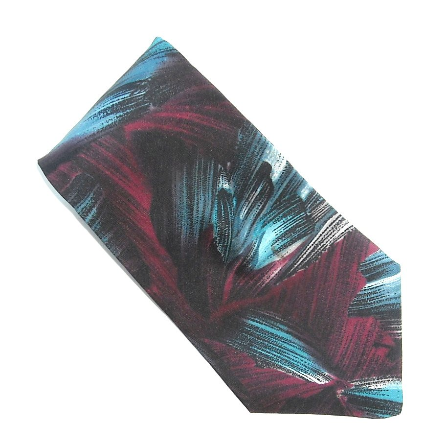 Preferred Stock Red White Blue Modern Abstract Design 100% Silk Necktie Tie