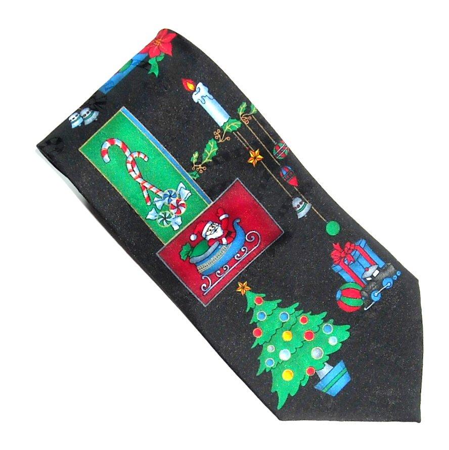 Yule Greetings Christmas Design Hallmark Necktie Tie