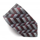Platinum Modern Casual Geometric design mens 100% Silk necktie tie