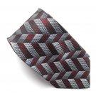 Platinum Modern Casual Geometric design mens 100% Silk necktie tie