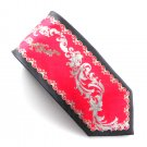 Adolfo Red Gray Black mens 100% Silk necktie tie