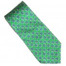 Polo Ralph Lauren Green Blue Floral Design Silk Mens Necktie Tie