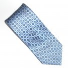 Chaps Blue Gold Checker Design Silk Mens Necktie Tie