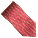 Nautica Red with Black and White  Design 100% Silk mens necktie tie