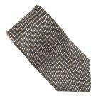 Bill Blass Navy Blue Red Yellow Blue Geometric Design 100% Silk mens necktie