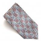 Claiborne Navy Blue Burgundy Beige Geometric Design mens 100% Silk necktie tie