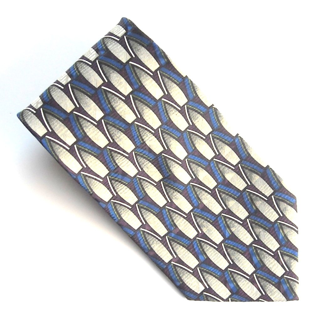 Z Inc Red White Blue Abstract Design mens 100% Silk necktie tie