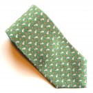 346 Brooks Brothers Bunnies Green Beige Orange Novelty mens 100% Silk necktie tie