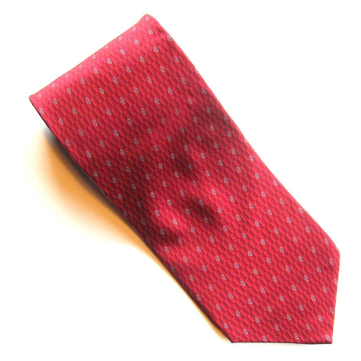 Murano Red Black Silver White Design mens 100% Silk necktie tie
