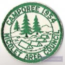 BSA BOY SCOUTS OF AMERICA 1954 NICOLET AREA COUNCIL CAMPOREE PATCH
