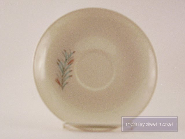 VINTAGE FORTUNE SAUCER OFF WHITE PINE NEEDLE PATTERN