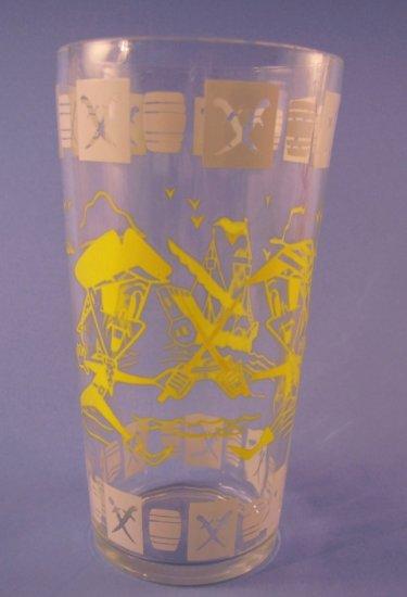 VINTAGE SWANKY SWIGS TALL JELLY GLASS PIRATES 1950's
