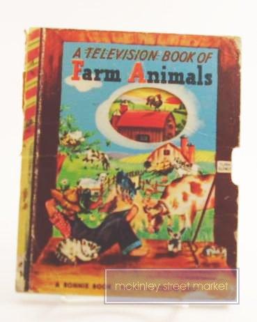 TELEVISION BOOK OF FARM ANIMALS BONNIE BOOK 1949