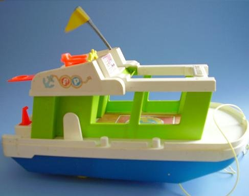 FP FISHER PRICE HAPPY HOUSEBOAT BOAT SHIP 985