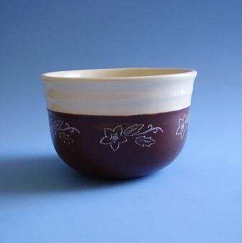 VINTAGE OXFORD STONEWARE BROWN BOWL 5""