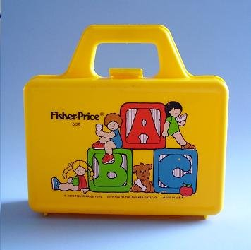 FISHER PRICE TOY LUNCH PAIL 638 1979