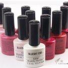12 colors Bluesky Shellac 7.5ml uv soak off nail gel polish+free 1base and 1top