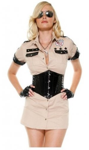 New Forplay Sexy Cop Costume - Highway Patrol Honey SIZE  M/L