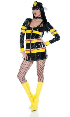 New Forplay Sexy Fire Fighter Igniter Costume Fits Size S/M