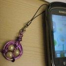 Handmade Purple Wire Bird's Nest Phone Necklace Charm