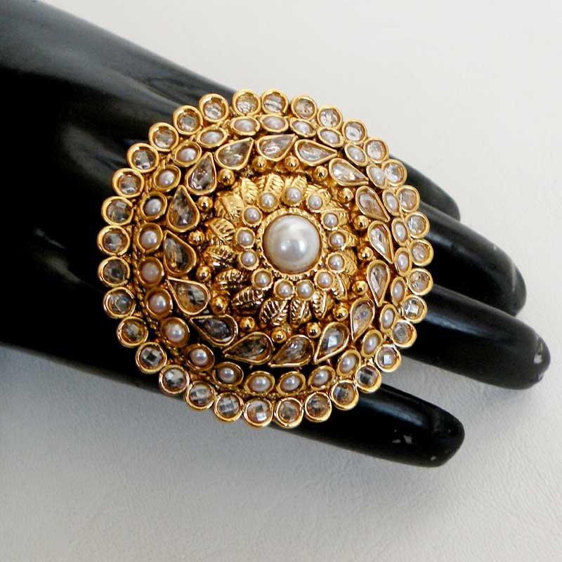 Awesome India Polki Fashion Jewelry Gold Plated Designer