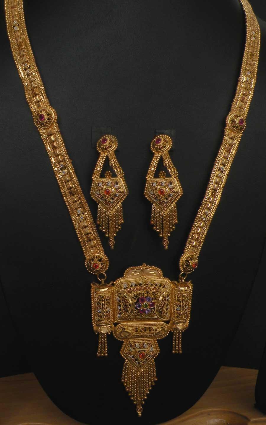 Designer Filigree HandMade Rani Haar Long Necklace Set India ...