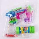 Transparent bubble gun voice glowing Children's toys