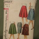 Vintage 1960's Women's 5 Skirt Sewing Pattern Simplicity #5627