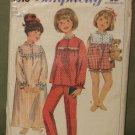 Vintage 1966 Children's Sleepware Sewing Pattern Simplicity #6815