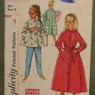 Vintage 1960s Children's Sleepware Sewing Pattern Simplicity #2755