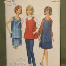 Vintage 1960s Maternity Coordinated Sewing Pattern Butterick Sz 12 Bust 32 #4113